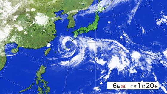 気象衛星 南方海上 【RSK気象情...